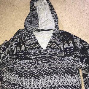 Slouchy Tribal print hoodie